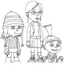 Small Picture Despicable Me 3 Coloring Pages