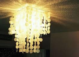diy faux capiz shell pendant light chandelier
