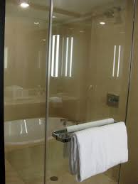 ... Casual Decoration Interior For Bathroom Jacuzzi Shower Combination  Design Ideas : Minimalist Frameless Glass Shower Door ...