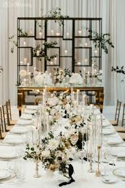 modern black white. Organic Wedding Centrepieces Modern Black White C