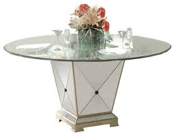 bassett mirror borghese 60 inch round pedetal glass top dining table