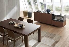 modern italian dining room furniture. Matte Walnut Finish Italian Design 5 Piece Dining Room Modern Furniture
