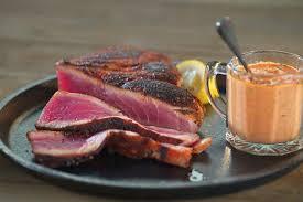 grill blackened tuna with cajun remoulade