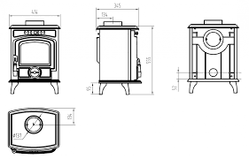 baby gabriel stove dimensions