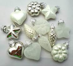 24x Glas Zapfen Blumen Mix Weiß Silber Weihnachtsschmuck Weihnachtsdeko Hänger Weihnachten Dekoration Advent Christbaumschmuck
