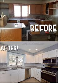 Before And After Kitchen Cabinet Makeover Diy How To Make Shaker