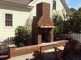 outdoor brick fireplace plans