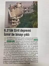 Yunanistan'daki deprem Bayraklı'daki binayı yıktı' haberlerine Valilik'ten  açıklama!