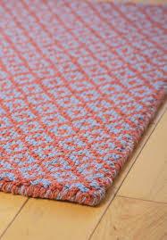 diamonds forever orangeblue eco cotton loomhooked rug  hook  loom