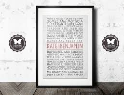 personalised valentines gifts custom famous couples poster personalised printable keepsake wall