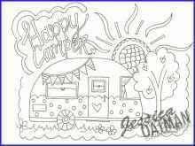 Camper Coloring Pages Pretty Camper Coloring Page Coloring Pages