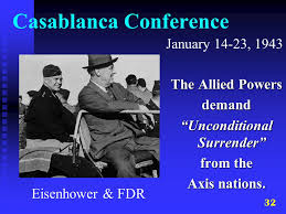 Image result for demand unconditional surrender of the Axis powers.