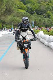 sports performance of a supermotard race at the motor and talent