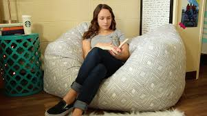 DIY Bean Bag Chair- The best way to achieve added seating in your dorm is