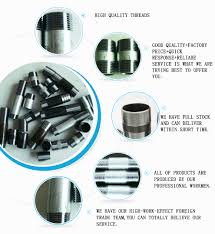 Gi Pipe Fittings Black And Galvanized Steel Pipe Nipples