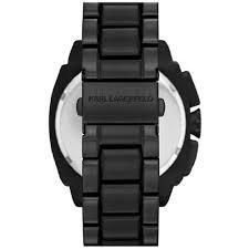karl lagerfeld kl1601 men s keeper black dial black ip steel karl lagerfeld kl1601 men s keeper black dial black ip steel bracelet chronograph watch