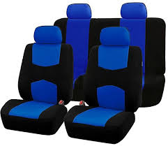 generic 9pcs car seat covers set for 5 seat car universal 4 seasons available color blue