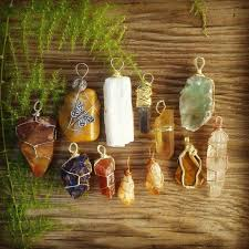 natural buddhism crystals handmade quartz zen new age chakra wicca crystal healing crystal pendant tumbled stones wire wrap crystal jewelry quartz point