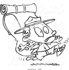 Vector Of A Cartoon Boy Scout