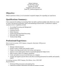 Entry Level Accounting Job Resume free entry level accounting resume template Fred Resumes 50
