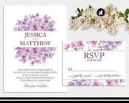 32 best wedding invitations images on pinterest beautiful Printable Wedding Invitation Kits Purple lilac floral wedding invitation kit or printable by aisletime Printable Wedding Invitation Templates Blank