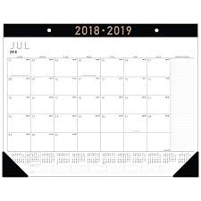 desk pad calendar on desk. Modren Desk ATAGLANCE 20182019 Academic Year Desk Pad Calendar Standard On Calendar D