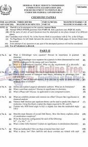 css past papers chemistry paper all online  css past papers 2016 2017 chemistry paper 1 2