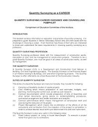 surveyor resume quantity surveyor resume  chaoszresume  gallery of cover letter sample quantity surveyor