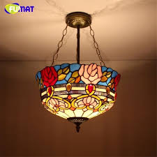 funny stained glass hanging light fixture