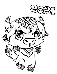 The goat will face a tumultuous year with obstacles in their career and personal lives. Ox Coloring Pages Print Ox New Year 2021 Wonder Day