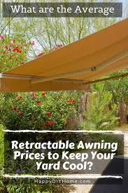 average retractable awning s