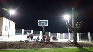outdoor basketball court lighting home