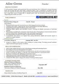 Teacher Resume Template 2018 Gorgeous Teaching Cv Buzzwords Professional Resume Templates