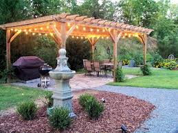lighting a pergola. italian string lights for the pergola lighting a