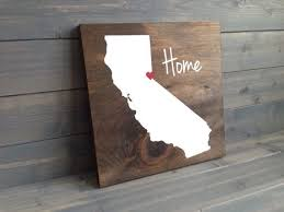 california decor wood signs