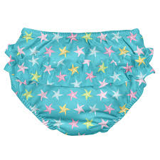 Details About I Play Baby Girls Ruffle Snap Reusable Absorbent Aqua Starfish Size 12 Months