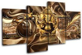 image is loading modern ganesh abstract multi canvas wall art picture  on ganesh canvas wall art with modern ganesh abstract multi canvas wall art picture print va ebay