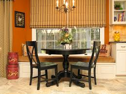 round table with curved benches stirring kitchen tables transitional chandelier shades home ideas 44