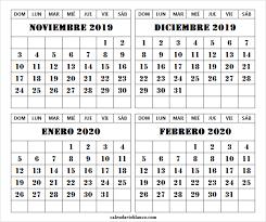 Calendario Noviembre 2020 Para Imprimir Dream Wear Online Febrero 2020 Calendario
