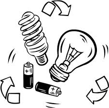 Battery And Bulb Recycling Coloring Page Free Printable Coloring Pages