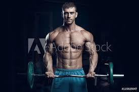 Fotografie Obraz Male Bodybuilder Fitness Model Posterscz
