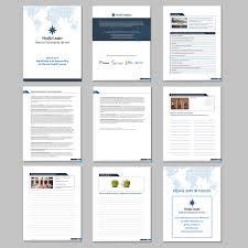 Upmarket Modern Management Consulting Word Template Design