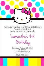 Hello Kitty Birthday Invitation Template Free Poporon Co