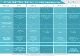 80 day obsession meal plan a soreyfitness