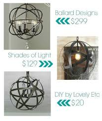 you can turn any old outdated light fixture into your house into a beautiful orb chandelier