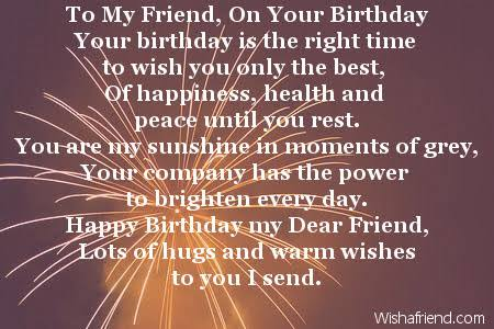 friendship poems for best friends birthday