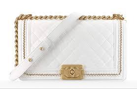 white chanel bags. chanel boy bag $5,200 white bags t