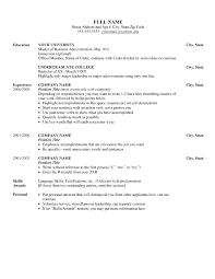 Stunning Resume Sample Language Skills Gallery Simple Resume
