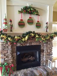 Mantle Garland Lights Whimsical Christmas Mantle Fireplace Ornaments Garland