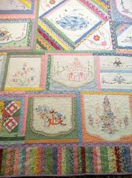 Best 25+ Embroidered quilts ideas on Pinterest | Quilting, Baby ... & Patches of embroidered vintage tea towels made into a cozy quilt Adamdwight.com